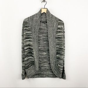 Papermoon Open Front Cardigan Gray Size Small